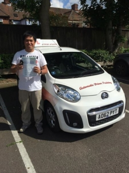 Many congratulations to Roger Dela Rosa on passing his Automatic Driving test at Norwich MPTC Enjoy the freedom and stay safe<br />