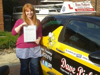 Congratulations to Sandie Smith who passed her Automatic Driving Test at Norwich MPTC in Bumble Well done on a good drive im really pleased for you no how much this means to you and your family remember to Stay Safe<br />