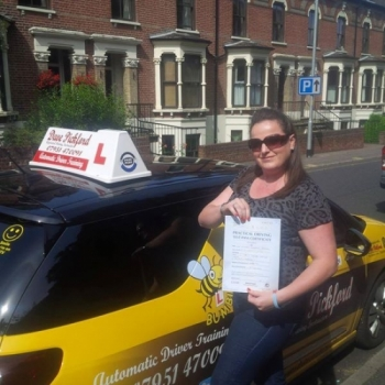 Congratulations to Siobhan on passing her Automatic Driving Test this morning at Norwich MPTC with Dave in #Bumble Well done you great drive nicely done now remember to Stay Safe out there <br />