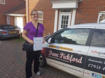 Congratulations to Tiffany on Passing her Automatic Driving Test this afternoon at #Norwich MPTC in #TPDCBumble <br />
