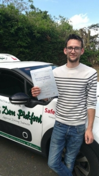 Congratulations to Tom who Passed his Automatic Driving Test this morning at#Norwich in #Bumble #TPDC<br />