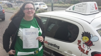 Congratulations to Wendy on passing her Automatic Driving Test this morning at ‪#‎Norwich‬ MPTC in ‪#‎Bumble‬ <br />